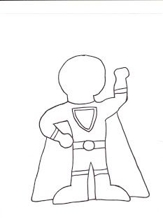 Make your own superhero... write what their power is and why!