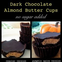 These little cups don't have any added sugar, but you would never know it. This is a much healthier option than all the sugar loaded Halloween candy.
