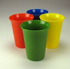 Tupperware tumblers from the 80's! - credit to: pinterest.com/artisjanel