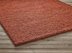 Wollteppich SKYWALKER, Braun/Orange, 200x300 cm, 100 % Schafschurwolle