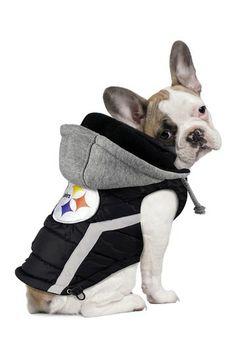 Pittsburgh Steelers Dog Puffer Vest by Hip Doggie on  HauteLook Steelers  Gear eb6df1ffd