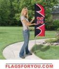 """Nebraska Cornhuskers Swooper Flag Kit 43"""" x 13"""""""