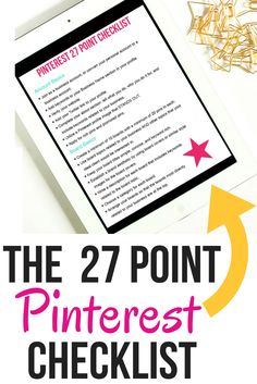 Download your FREE 27 point Pinterest Checklist + turn your Pinterest presence into a powerful marketing machine. Learn the exact steps to make Pinterest WORK for your business.