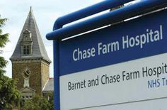 Chase Farm Hospital entrance - where I was born