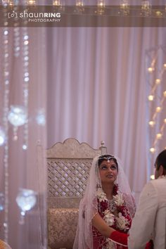Modern white Hindu wedding ceremony via IndianWeddingSite.com