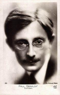 Paul Géraldy (1885-1983) schrijver van de beroemde dichtbundel Toi et Moi