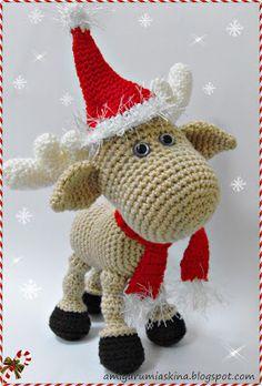 crochet santa reindeer