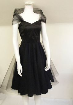 The Black Tulle Cocktail Dress. £265.00, via Etsy.