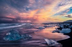 The Diamond Beach - Here is one from The Diamond Beach, Iceland....