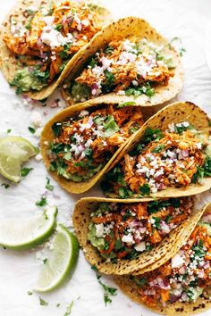 The Best Chicken Tinga Tacos - Pinch of Yum - - The Best Chicken Tinga Tacos – Pinch of Yum What's For Dinner? These Chicken Tinga Tacos are THE BEST! Includes directions for the Instant Pot. Mexican Food Recipes, Real Food Recipes, Cooking Recipes, Yummy Food, Healthy Recipes, Ethnic Recipes, Healthy Tacos, Healthy Food, Spicy Food Recipes
