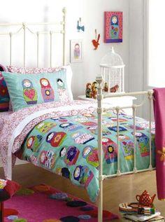 Russian Doll bedding     http://www.linenstore.co.uk/girls-bedrooms-1868/russian-doll-bedding-3050/russian-doll-single-duvet-cover-set-11485.html