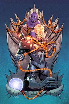 Fan art for Marvel Comics' Cosmic Ghost Rider. Avengers Characters, Comic Book Characters, Comic Books Art, Comic Art, Marvel Comics Art, Marvel Heroes, Marvel Avengers, Ms Marvel, Captain Marvel