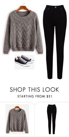 """""""Untitled #590"""" by danieledepaula ❤ liked on Polyvore featuring EAST and Converse"""