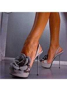 Delightful Flower Decoration Dress Sandals - Shoespie.com