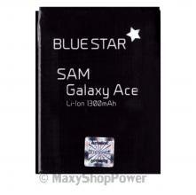 BATTERIA ORIGINALE BLUE STAR 3,7V 1300mAh LI-ION PER SAMSUNG GALAXY ACE S5830 NERA BLACK NEW NUOVA IDEA REGALO - SU WWW.MAXYSHOPPOWER.COM