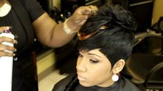 The Sexy Boy-Girl Quick Weave by Tameka King [Video] - http://community.blackhairinformation.com/video-gallery/weaves-and-wigs-videos/the-sexy-boy-girl-quick-weave-by-tameka-king-video/