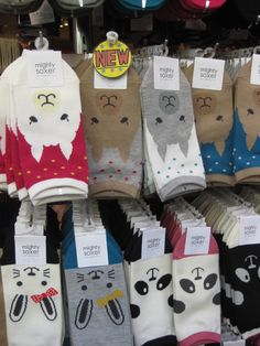 The first word in Japanese that I learned was maybe the most useful: Kawaii (Ka-why-ee)- Cute You need only to spend a day in Japan to see how prevalent this … Llama Socks, Mighty Mighty, Crazy Socks, Cute Socks, Kids Socks, Gifts For Pet Lovers, Sock Shoes, Leggings, Cute Outfits