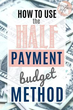 Half Payment Budget Method How to use the half payment budget to make ends meet and help with your money management. Become debt free and have better personal finances using this simple money hack that shows you ways to save money. Ways To Save Money, Money Tips, Money Saving Tips, Money Hacks, Budgeting Finances, Budgeting Tips, Faire Son Budget, Planning Budget, Living On A Budget