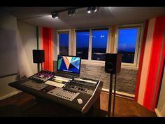 Sterling Modular Multi Station Avid /Euphonix Artist Series desk. The perfect modern desk workstation.  lessonator.com