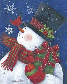 Christmas Scenes, Christmas Art, Beautiful Christmas, Vintage Christmas, Christmas Wreaths, Christmas Ornaments, Snowmen Pictures, Christmas Pictures, Christmas Drawing
