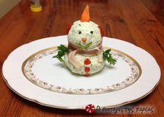 Χιονάνθρωπος από τυριά #sintagespareas #tyria #orektiko