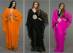 Kaftan dresses have been around since century AD. They are signature clothing of Middle Eastern Kaftan Designs, Arab Fashion, African Fashion, Fashion Beauty, Kaftan Pattern, Vintage Inspired, Latest Trends, Kimono Top, Saree