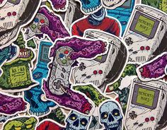 "Check out new work on my @Behance portfolio: ""Dead Gaming Vinyl Stickers Pack"" http://be.net/gallery/43450513/Dead-Gaming-Vinyl-Stickers-Pack"