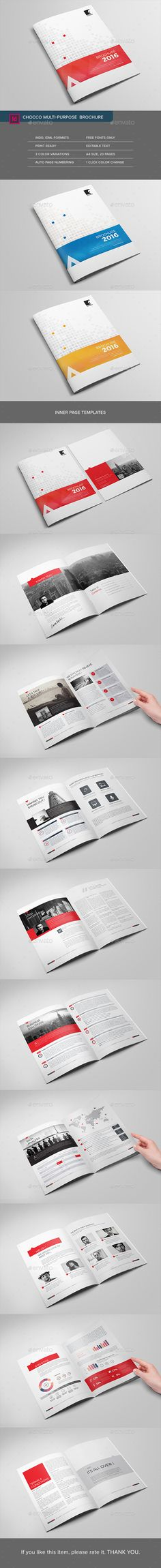 Chocco Multipurpose Brochure Template InDesign INDD. Download here: http://graphicriver.net/item/chocco-multipurpose-brochure/15507375?ref=ksioks