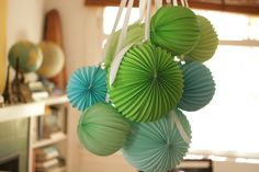 Create a wonderful focal point to your celebration decorations with Robert Mahar's Paper Lantern Chandelier! DIY video
