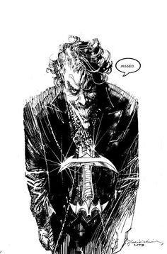 Joker sketch | Bill Sienkiewicz