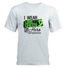 I Wear a Lime Green Ribbon For My Hero Lymphoma shirts, apparel and gifts #lymphoma #lymphomaawareness #nonhodgkinslymphoma #nonhodgkins