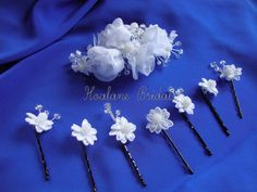 Bridal headpiece Organza rosettes and SWAROVSKI by Hoalanebridal,  #weddings #brides #swarovski