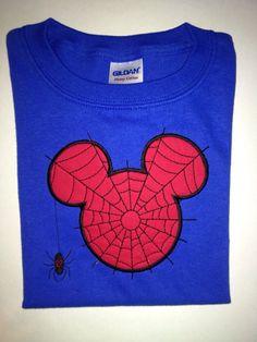 Spider Man Mickey ears shirt by BellaRagazzi on Etsy, $24.00