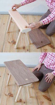 Studio Gorm's Wood Peg System: Furniture that Hangs Around - System Furniture, Moving Furniture, Deco Furniture, Furniture Projects, Furniture Design, Woodworking Furniture Plans, Woodworking Workshop, Woodworking Projects, Long Chair