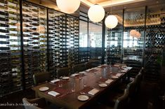Private Dining Room with Wine Bottles
