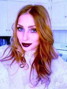 Dark, but wearable make up.