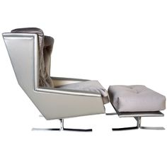 1stdibs - 1970s Chrome Sled Wing Chair and Ottoman explore items from 1,700  global dealers at 1stdibs.com