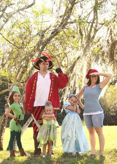 Peter Pan, Wendy, Tinkerbell, Captain Hook and Smee