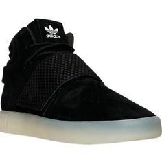 Adidas Men's Tubular Invader Strap Casual Shoes, Black - Size 10.0