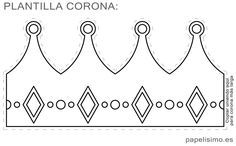 Plantilla-corona-de-goma-eva-diy-king-crown-template Crown Template, Heart Template, Butterfly Template, Flower Template, Crown Crafts, Diy Crown, Crown Printable, Crown Pattern, Diy And Crafts