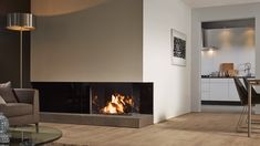 Modern fireplace design – ideas for a cozy home interior Home Fireplace, Living Room With Fireplace, Fireplace Design, Fireplace Ideas, Fireplace Modern, Contemporary Fireplaces, Freestanding Fireplace, Japanese Home Decor, Living Room Tv