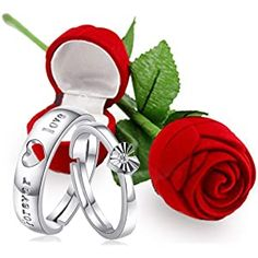 Buy Karatcart Valentine's Day Gift Hamper of Couple Ring with Red Rose Gift Box for Boyfriend/Girlfriend/Gift at Amazon.in Valentine Gifts For Girlfriend, Valentine Special, Valentine Box, Boyfriend Gifts, Valentine Day Gifts, Boyfriend Girlfriend, Best Valentine's Day Gifts, Best Birthday Gifts, Rose Gift