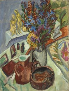 Ernst Ludwig Kirchner (1880-1938), Still Life with Jug and African Bowl, 1912. Oil on canvas.