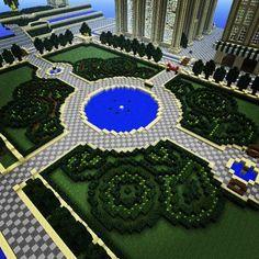 minecraft castle gardens - Google Search