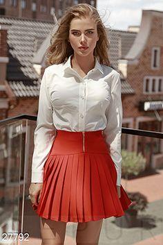 Gepur | Эффектная шелковая блуза арт. 25810 Цена от производителя, достоверные описание, отзывы, фото , цвет: , цвет: бежевый Sexy Outfits, White Shirt Outfits, Skirt Outfits, Pretty Outfits, White Shirts, Sexy Blouse, Blouse And Skirt, Cute Skirts, Mini Skirts