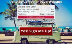 Social Media Site, Travel Deals, Sign I, Club, Day, Vacation Deals