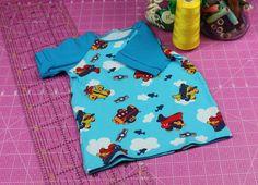 """T-Shirt """"Flieger"""" Größe 74 von Lelo Designs Berlin auf DaWanda.com"""