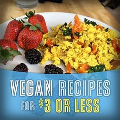 Cheap Vegan Recipes for $3 or Less so You Don't Have to Starve Until Payday