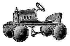 *The Graphics Fairy LLC*: Vintage Clip Art - Transportation Toys - Scooter etc