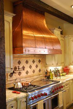 Camillia- copper hood #copper #kitchen #rangehood #artofrain